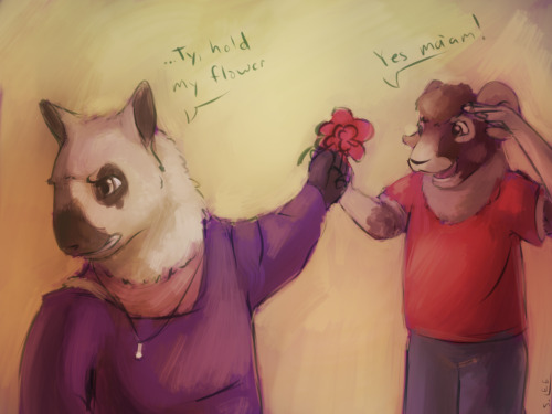 I don't know who said the thing but Ty's got your flower for you while you go kick their ass, Andy.