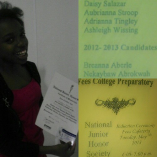Congradulations to my bright beautiful daughter @nekayboo (Nekaybaw) for being inducted in #NJHS. Her name is #Hebrew and it means female leader. She is definately living up to her name. That's why Its importante to give your children names with meaning instead of simple a*s Euro American names. Or overly ghetto names like Shadallashia….no offense if you or your child's name is Shadallasashia. I'm jus sayn. #accomplished #prouddad