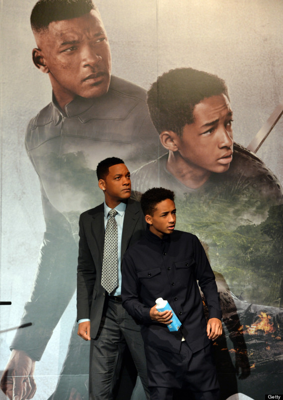 Jaden Smith with his faster Will Smith.