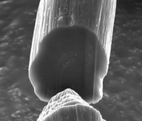 "Scientists spin carbon nanotube threads on industrial scale  ""We finally have a nanotube fiber with properties that don't exist in any other material,"" said lead researcher Matteo Pasquali of Rice University. ""It looks like black cotton thread but behaves like both metal wires and strong carbon fibers."" The thread has ten times the tensile strength of steel and is as conductive as copper, but is flexible enough to be wound around a spool or woven. The team envisages it being used in ""smart"" clothing and the aerospace industry, and says that its properties will be of particular use to electronics manufacturers.""  (via openscience)"