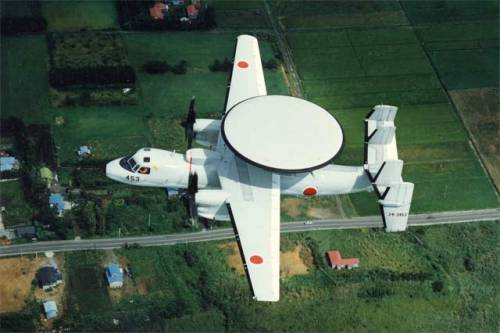 AWACs and AEW Aircraft #2: The Grumman E-2 Hawkeye The Hawkeye had been the main AWACs aircraft for the US Navy and has been sold to many other countries including Japan (as pictured), Israel, France and Egypt.