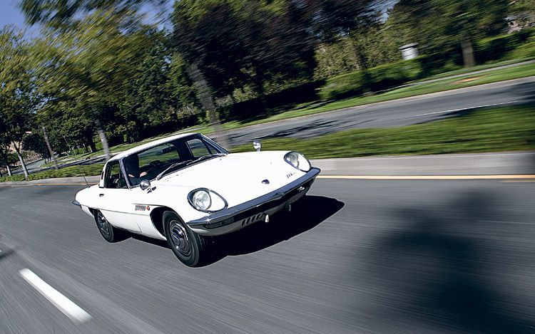 A lot of people think the Mazda Cosmo was the first production car with a rotary engine, but in fact the NSU Spider was the first in the world to have one.