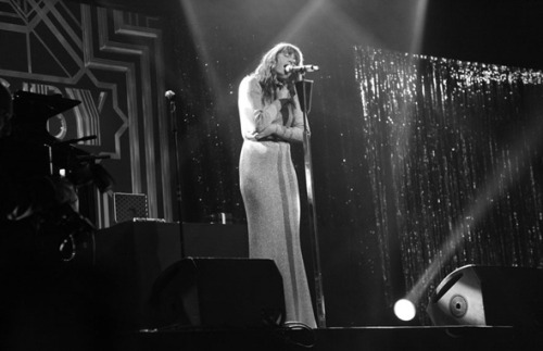 Florence Welch performing inside 'The Great Gatsby' party at the Cannes Film Festival.