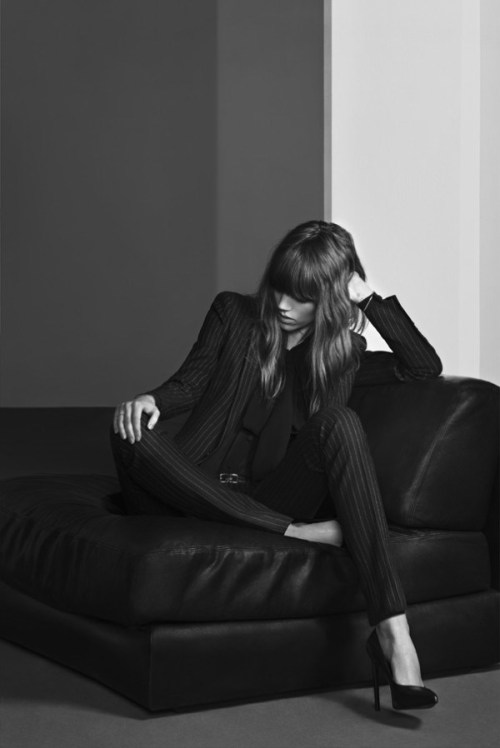 fuckyeahfrejabeha:  Freja Beha Erichsen by Hedi Slimane for Saint Laurent Pre-Fall 2013 Campaign  You are the most beautiful model on earth!!!