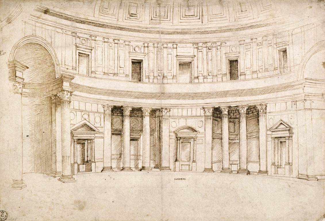Interior of the Pantheon (ca.1506) by Raphael