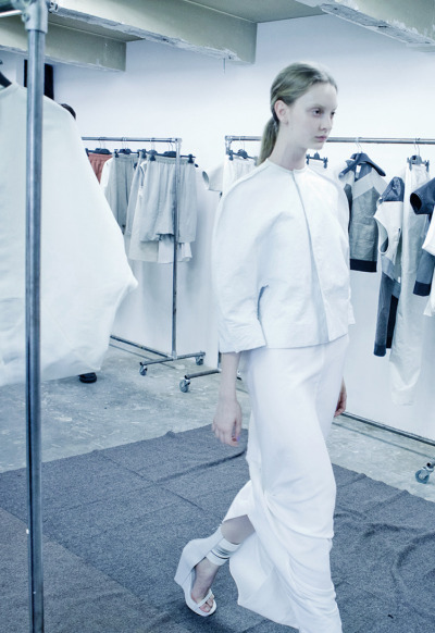 ejakulation:  Codie Young at the Rick Owens S/S 2012 fittings