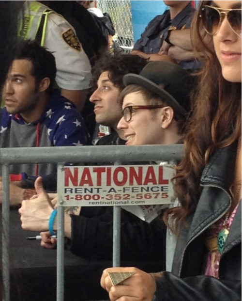 break-the-barricade:  creeper shot of patrick stump