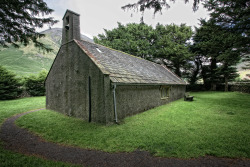 The tiny Church of St.Olaf. Wasdale Head, Cumbria. UK.