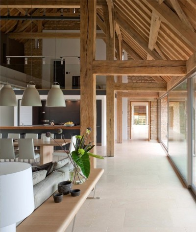 justthedesign:  Converted Barn Living Space