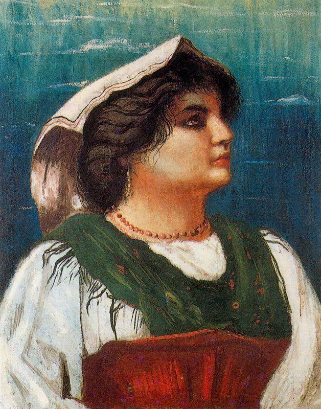 Giorgio de Chirico — The peasant woman, Giorgio de ChiricoMedium: oil,...