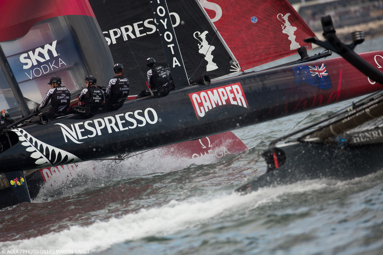 Emirates Team New Zealand becomes third overall leader on third day