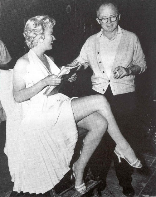 1955: Marilyn Monroe on set The Seven Year Itch