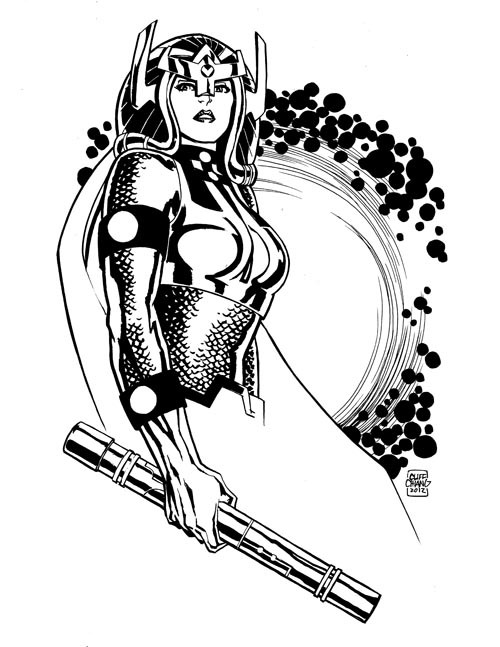 cliffchiang:  Big Barda, for the 2012 Baltimore Comic-Con charity auction  omg