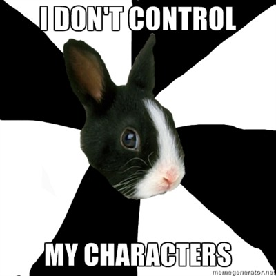 fyeahroleplayingrabbit:  Seriously, they just have their own mind. Partner and I just sit back and watch what will happen. It's wonderful.