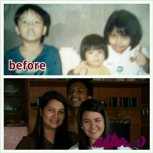 Then and now. Almost 18 years ago. :)