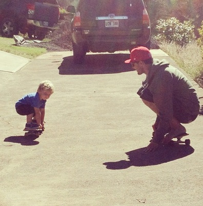 alwaysandyirons:  Skate on baby boy.