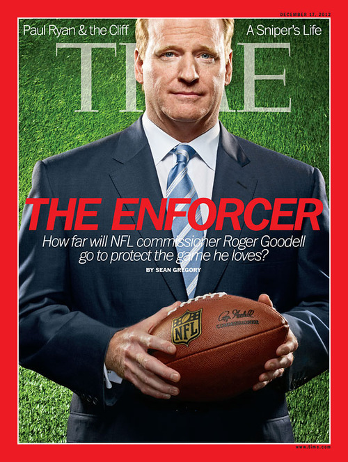 The latest issue of TIME, featuring our cover story, 'Can Roger Goodell save Football?', hits newsstands Friday. (Photograph by David Yellen)