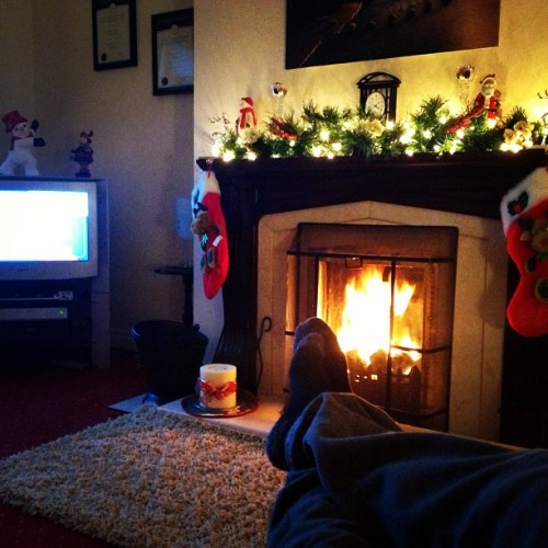 Feet up for Xmas  (at Linn Beag)