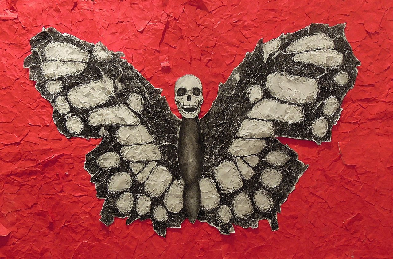 The Butterfly Mixed media and collage on paper 2012
