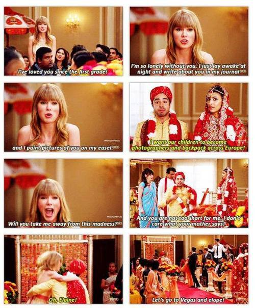 moonyswiftie:  New girl cameo. ;)