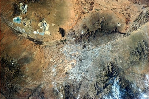 colchrishadfield:   Tucson, Arizona from orbit.    From orbit. NBD.