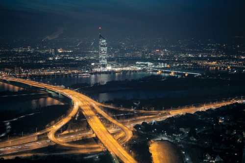 Vienna at night. by Crusade. on Flickr.