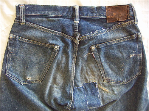 1950's Levi's 501xx leather jerky patch