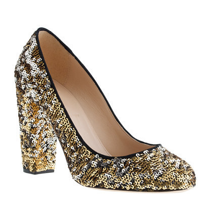 Be your own disco ball this New Years Eve with these  J.Crew Sequin Pumps!