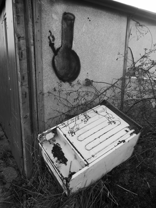 Flytipped fridge. Loughborough, Jan 2012.