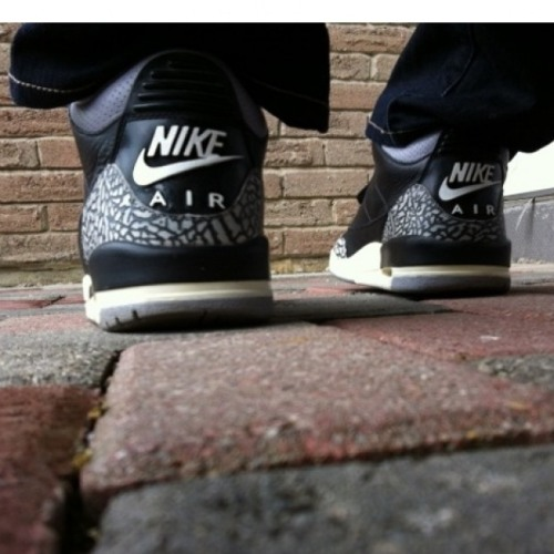 "kicksapalooza:  Nike Air Jordan 3 ""Black Cement"""