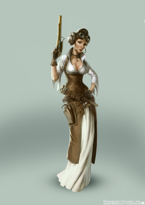 spiral-kingsward:  Steampunk Star Wars - Leia by BjornHurri
