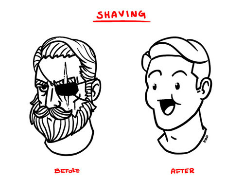 time to quit shaving again.