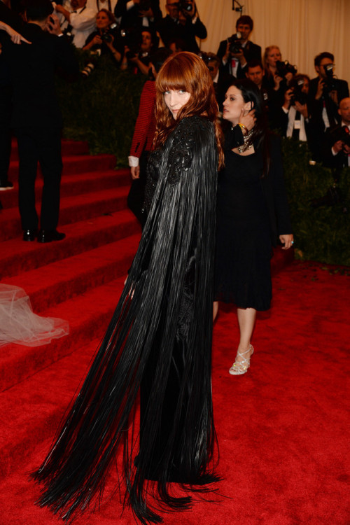 suicideblonde:  Florence Welch in Givenchy at the Met Gala in NYC, May 6th  Goth: ur doing it right