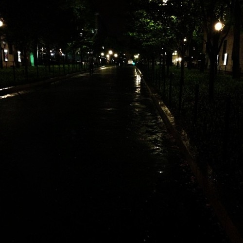 Columbia at night, post-rain. (at College Walk - Columbia University)