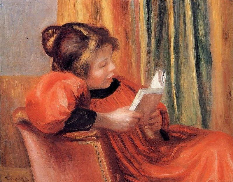Pierre-Auguste Renoir - Girl Reading (1890)