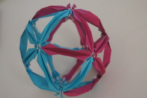 Another kusudama I made years ago (ignore the dust). I think it was 30 sheets of paper?