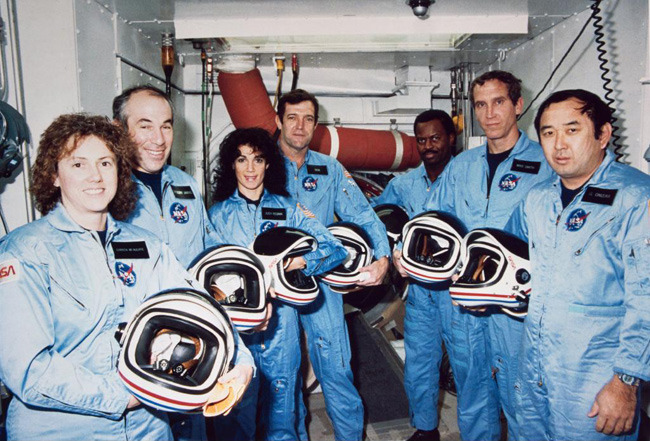 Twenty-seven years ago today, on January 28, 1986, the Space Shuttle Challenger exploded during its 10th flight mission (STS-51-L), just 73 seconds after liftoff. The mission was originally scheduled to begin on January 22, 1986, but it had to be rescheduled several times before the Challenger finally departed from Kennedy Space Center in Florida on Jan. 28. After the failure of an O-ring seal on one of the shuttle's Solid Rocket Boosters, the vessel burst into flames and exploded. The tragic events were captured during a live broadcast, and all seven crew members lost their lives.   Today in history: Looking back at the 1986 Challenger Shuttle disaster Photo: NASA