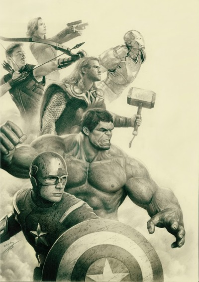 Excellente illustrations The Avengers