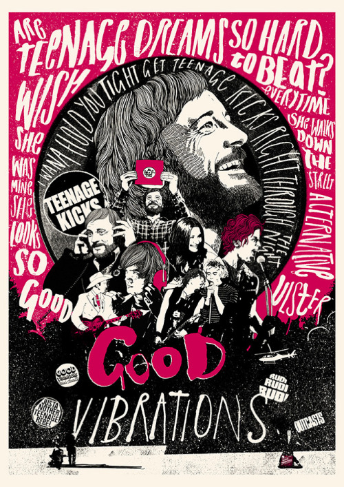 Good Vibrations alternative movie poster designed by Peter Strain