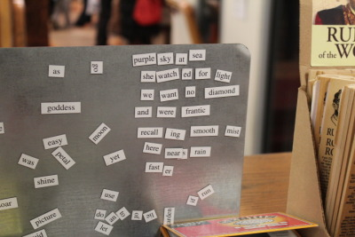 Having a mini poetry moment in Strand.