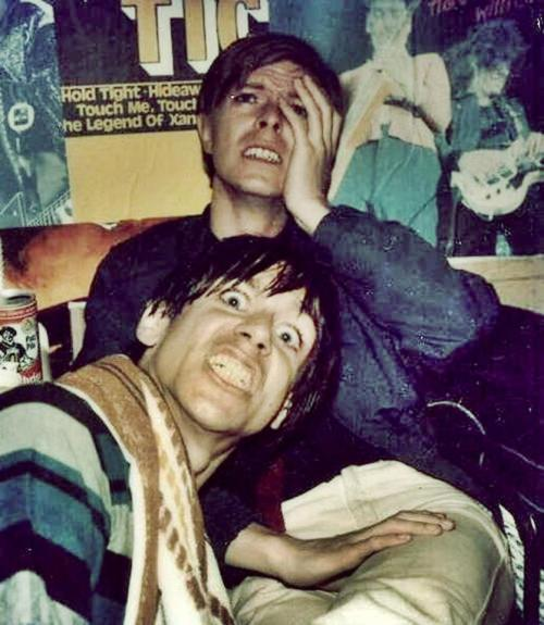 ► David Bowie & Iggy Pop (partying somewhere in Berlin, Germany, 70's)