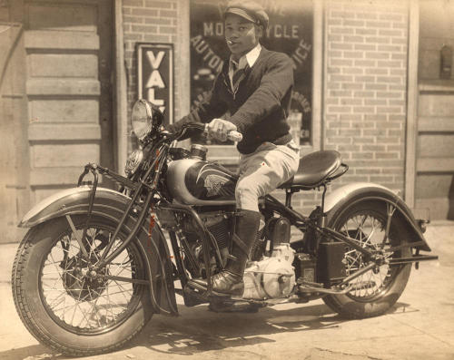 EASY RIDER | 1936 Unidentified Man on a Motorcycle, ca. 1936. Daniel Cowin Collection, International Center of Photography