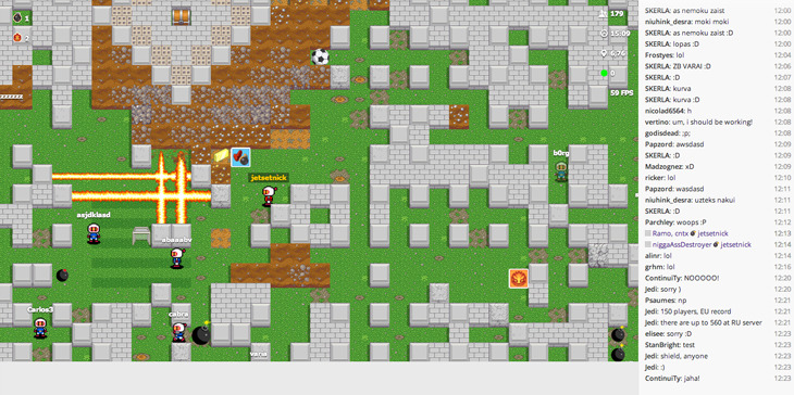 thenextweb:  Bomberman was always better against other people though. Now, a massively multiple online (MMO) version – albeit an unofficial one – has been released, allowing you to play right in the browser against up to 1,000 other people. Bombermine is everything you know and love about the original, but hyped up on a much grander scale. The levels are bigger and the ability to instantly respawn, similar to modern first person shooters (FPS) and MMORPGs, means that the action is relentless. (via Remember Bomberman? Try playing it in the browser against up to 1,000 other people - The Next Web)