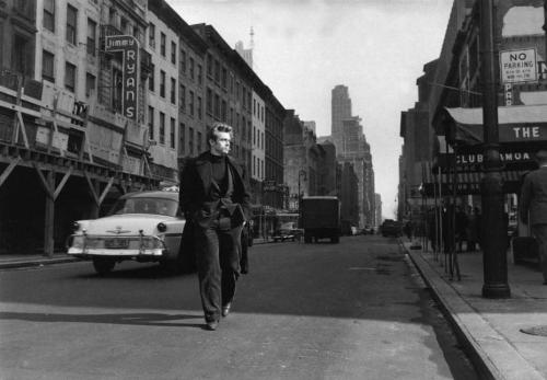 James Dean in Midtown, NYC 1955 by Dennis Stock