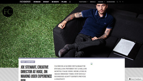 FastCompany redesigned their home page. One of my favorite websites, their content, design and innovation never cease to impress me.