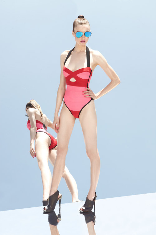 wgsn:  Love this Hervé Léger by Max Azria pre-summer 2013 look