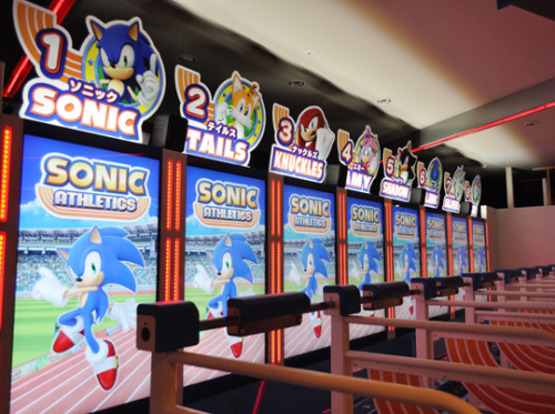 phrux:  thatfellowsthings:  There's a new Sonic arcade game that actually involves running fast on a treadmill  Notice all the sonic fans playing it  gotta play fast … LESGO