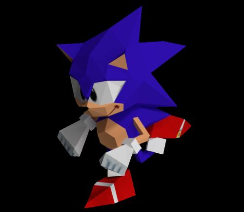 lowpolyanimals:    Sonic the Hedgehog from Sega Saturn Developer Kit