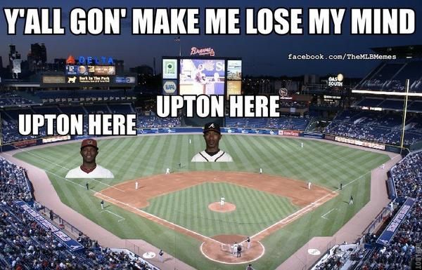DMX - DMX approves of the Atlanta Braves' outfield (via @MLBMeme)