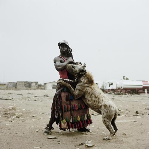 artruby:  Pieter Hugo, Abdullahi Mohammed with Mainasara, Ogere-Remo, Nigeria from 'Gadawan Kura' - The Hyena Men II, (2007)